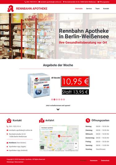 Apotheke Berlin - Website