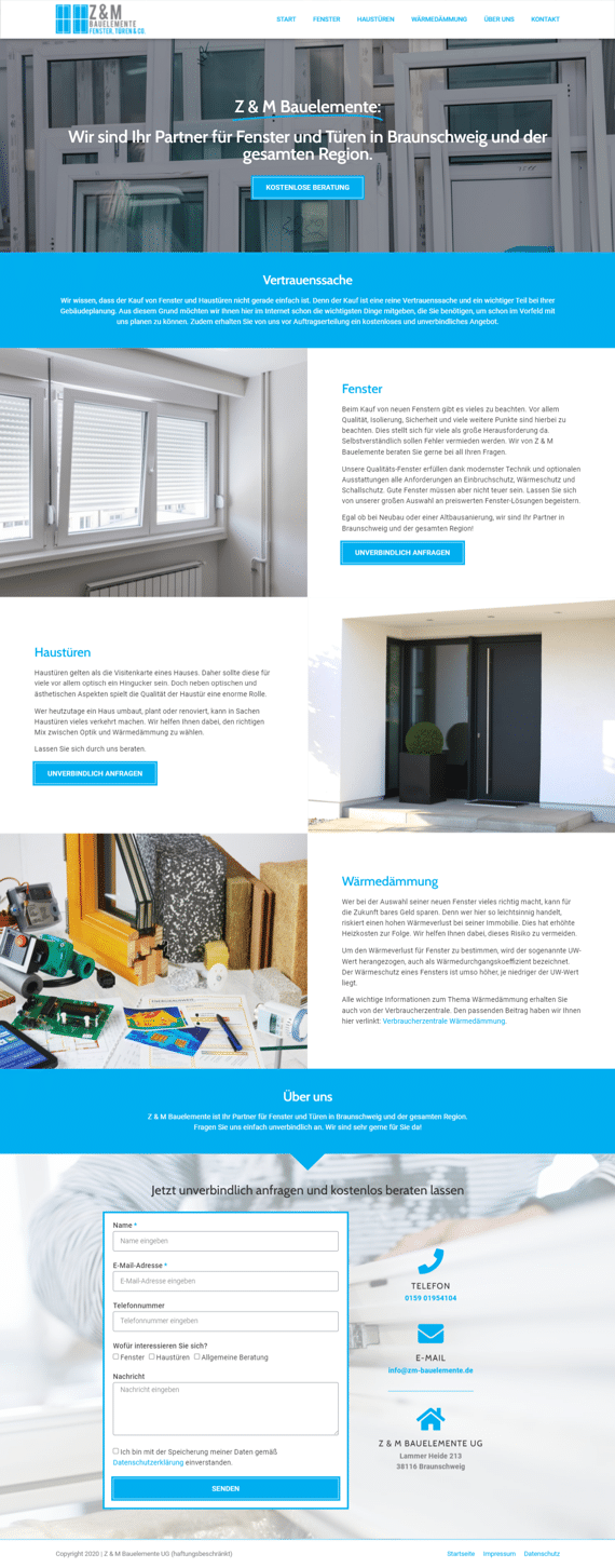 Bauelemente - Website