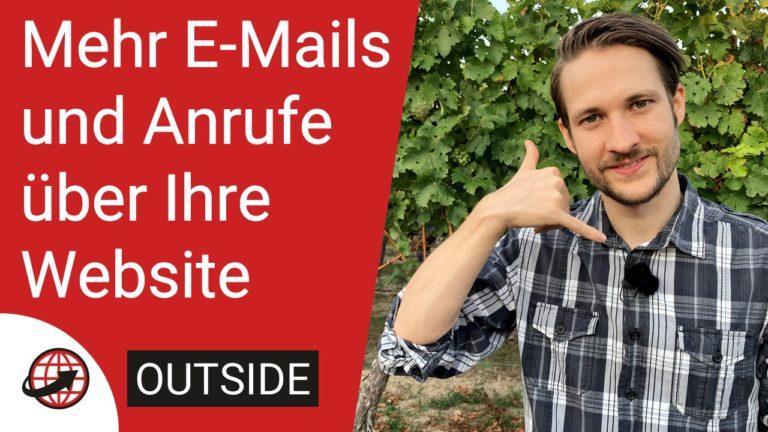 Mehr E-Mails und Anrufe über Ihre Website