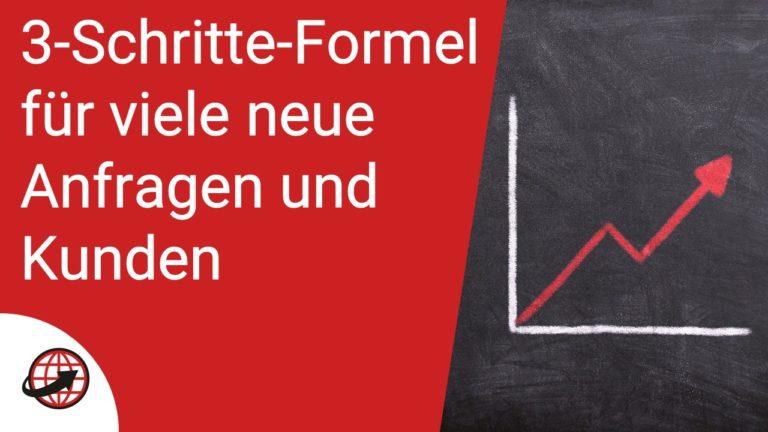 Online mehr Kunden gewinnen - 3-Schritte-Formel