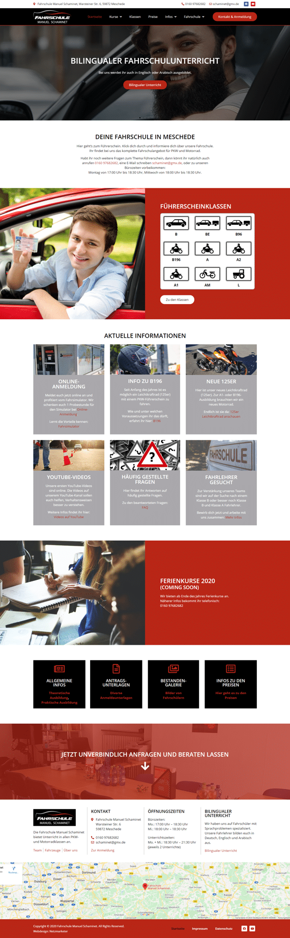 Schaminet - Website