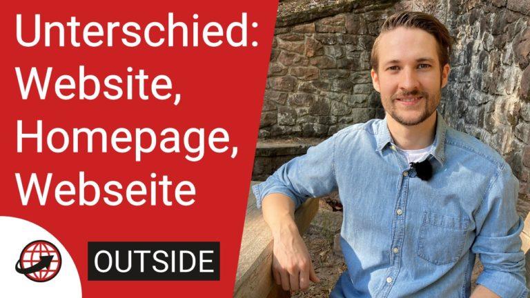 Unterschied zwischen Website, Homepage, Webseite