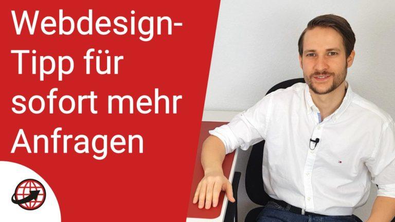 Webdesign Tipp für mehr Kundenanfragen