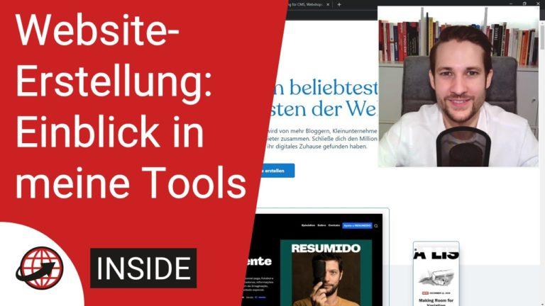 Tools für die Website-Erstellung - WordPress und Webhosting